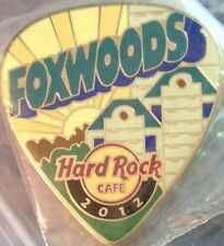 Hard Rock Cafe FOXWOODS 2012 POSTCARD Series Guitar Pick PIN Post Card #68673