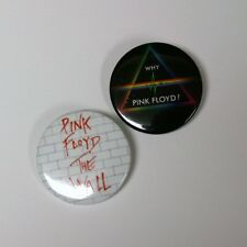 "Pink Floyd The Wall - Bricks Why Pink Floyd? 1.5"" Button Pin 4 PINS"