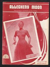Allegheny Moon 1956 Patti Page Sheet Music