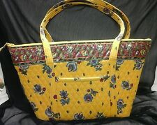 VERA BRADLEY FRENCH CLASSIC LARGE VILLAGER BAG 7 POCKETS