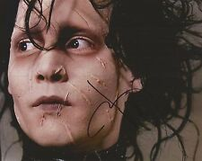 JOHNNY DEPP Hand Signed 8 x 10 EDWARD SCISSORHANDS Photo AUTOGRAPH COA AUTO