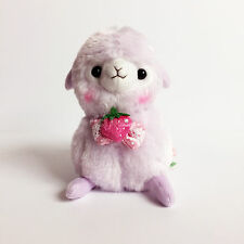 AMUSE Ichigo Berry Baby Alpacasso Purple Boy (16cm) Alpaca Arpakasso Plush NWT
