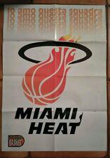 Doppio Poster fronte retro  MIAMI HEAT & PAT RILEY - NBA -  MAGIC BASKET -
