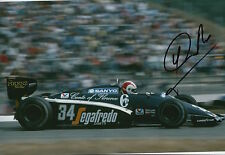 Johnny Cecotto Hand Signed 12x8 Photo Toleman Group F1 5.
