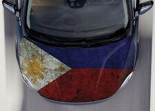 Philippine Flag #1 Car Hood Wrap Full Color Vinyl Sticker Decal Fit Any Car