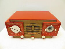 VINTAGE OLD 1950s ANTIQUE RARE COLOR AM-FM ZENITH MID CENTURY RETRO CLOCK RADIO