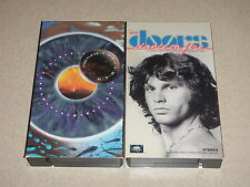 Lot of 2 VHS Videos Pink Floyd Pulse London Earls & The Doors Dance On Fire
