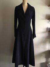 PRADA - LONG COAT EVENING, BLACK, Size 40