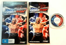 WWE SmackDown vs. Raw 2007 Portable Sony PlayStation PSP Game Wrestling