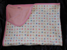 Vintage 1996 GYMBOREE Blanket GINGERBREAD STAR MOON HEARTS Pink White Stripe Bow