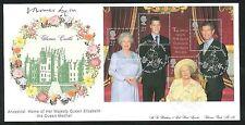 2000-la reine mère fdc-clarence house pcm-signé par simon bowes-lyon