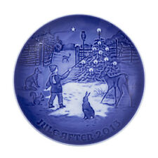 """2013 Bing & Grondahl Christmas Plate """" Light in the Snow """" New in Box"""