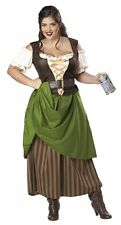 Women's Plus Size Tavern Maiden Halloween Costume 3X Corset Dress Oktoberfest