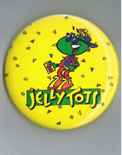 "Jelly Tots 2.25"" Pinback Button Advertising Candy Snack Food Confection Beans Ad"