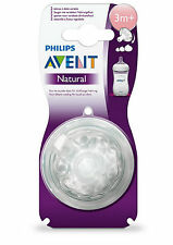 Philips SCF653/27 Avent Natural 2-Pack Medium Flow Teats 3m+