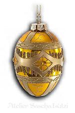 Katherine´s Collection Weihnachten Christbaumkugel Glaskugel Ei Gold Gelb NEU
