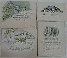 4 Nice 1920s Greeting Cards Merry Christmas