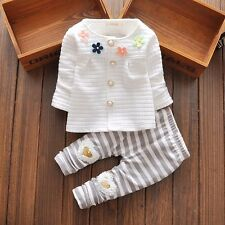 baby girl clothes girl outfit outfits flower cardigan& pants white 9-12 M