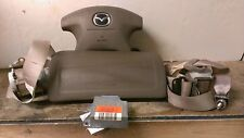 00 01 02 Mazda 626 Air Bag Set Wheel Dash Belts Module OEM  Tan