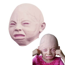 Full Head Creepy Cry Baby Face Latex Scary Mask Halloween Costume Adult Cosplay