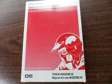 NOS Honda Factory Owner's Manual 2005 TRX400EX 31HN1660