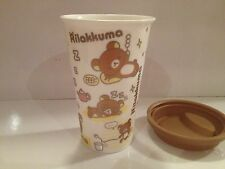 Rilakkuma -Hello Kitty & Friends  Travel Thermal Porcelain Cup and Silicon Lid