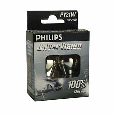 Philips silver vision PY21W indicateur ampoules (twin pack de ampoules)