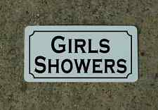 GIRLS SHOWERS Metal Sign 4 Hotel Gas Station Club Camp Ground Park Store GYM