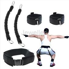 70LB Black Sports Resistance Bands Speed Jump Agility Training Equipment