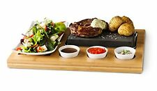 Grill Meat Steak Stone Cooking Tabletop Hibachi Grilling Set Family Size