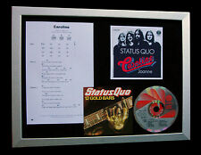 STATUS QUO Caroline LTD CD TOP QUALITY FRAMED DISPLAY+EXPRESS GLOBAL SHIPPING