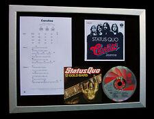 STATUS QUO Caroline LTD CD TOP QUALITY FRAMED DISPLAY+EXPRESS GLOBAL SHIPPING
