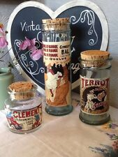 Rare Vintage French Glass Storage Jar-Moulin Rouge/Terrot/Clement  #2966