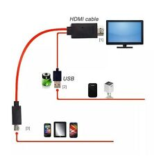 Red Micro USB MHL To HDMI  Cable For SAMSUNG GALAXY SIII i9300 S3 S4 1080P HD TV