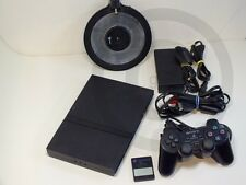 PLAYSTATION PS2 Console Slim + Memo + Base foot, used but GOOD