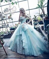 Weiß Elfenbein Hochzeitskleid Ballkleid Brautkleider Abendkle Gr.32 34 36 38 40+