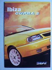 Prospekt Seat Ibiza Cupra 2, 4.1998, 8 Seiten, folder