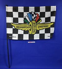 Indianapolis Motor Speedway Collector Checkered Stick Flag Black Brickyard 400