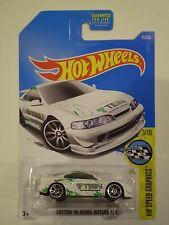 HOT WHEELS 2017 HW Speed Graphics *CUSTOM '01 ACURA INTEGRA* white