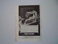advertising Pubblicità 1950 MACCHINA PER CUCIRE ELNA