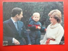 POSTCARD ROYALTY PRINCE WILLIAM & THE PRINCE & PRINCESS OF WALES