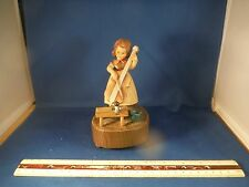 "Anri Girl W/Cello ""Am Brunnen Vor Dem Tore"" Music Box"