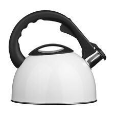Whistling Kettle 2.5L Stainless Steel White Stylish For Home & Office New