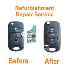 Refurbishment repair service for Kia 3 button flip remote key Rio Ceed Sportage