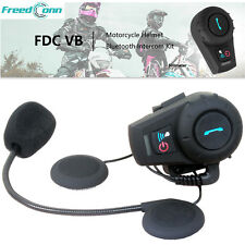 Bluetooth Interphone BT Motorcycle Intercom Communication FM GPS Helmet Headset