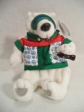 Plush Coca Cola Polar Bear Ski Outfit Coke Bean Bag Style 0265 1999 North Pole