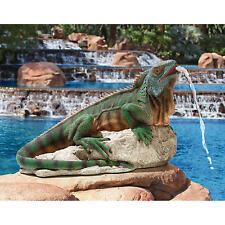 Iggy the Iguana Bright Hued Home Garden Water Feature Ready Piped Statue