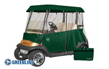 Drivable 2 Person Golf Car Cart Cover Enclosure Green