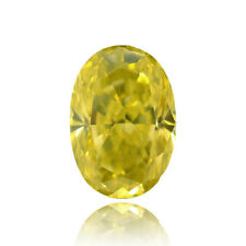 Yellow Loose Diamond Oval Shape Natural Fancy Color 1.00Ct VVS1