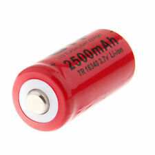 GIF 3.7V CR123A 16340 2500mAh Rechargeable Red Camera Flashlight Battery Cell